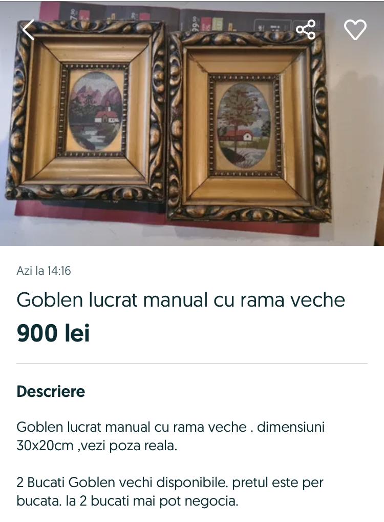 Goblenul lucrat manual, o comoară la casa omului. Care este prețul unui goblen în România